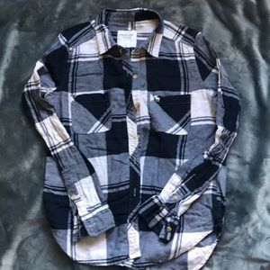 AF Navy and White Flannel Small